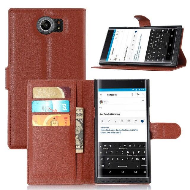 חדש ארנק יוקרה כיסוי נרתיק עור PU עבור Blackberry Priv מקרה טלפון Case Flip עבור Blackberry Priv Fundas Coque קאפה
