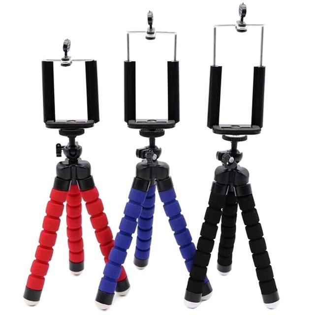 3in1 טלפון מחזיק גמיש תמנון חצובה סוגר Selfie הרחבת Stand הר חדרגל סטיילינג אביזרי עבור טלפון נייד הגיע