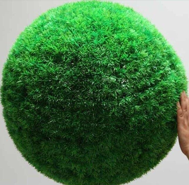 Plantes artificielles plante gros bouquet herbe boule décoration fleur maison tentures vert grande boule ronde herbe boule