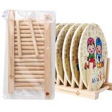 1 Pc de la cocina de almacenamiento Rack de drenaje plato de madera estante  de soporte de placa de pantalla titular secado Rack . 5e3d61f6c247