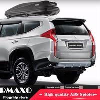 For Mitsubishi pajero sport Spoiler 2016 2018 pajero High Quality ABS Material Car Rear Wing Primer Color Rear Spoiler
