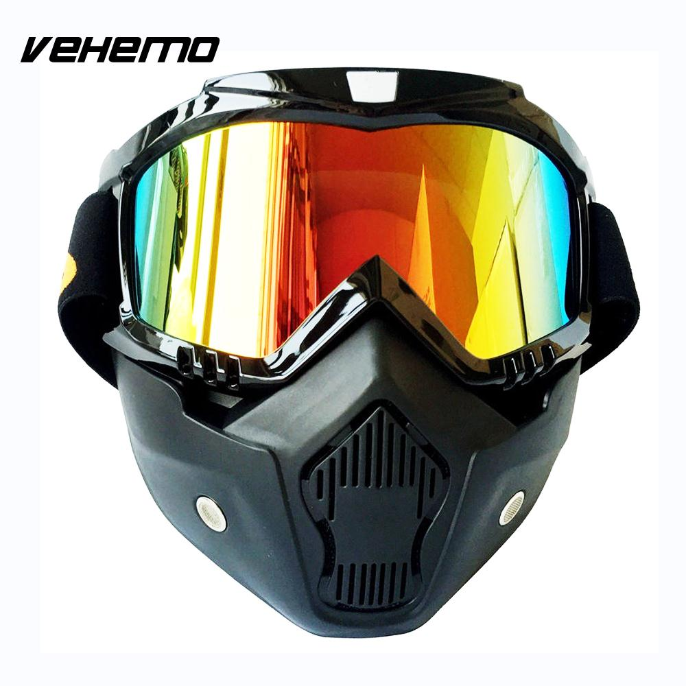 Motorcycle Helmet Mask professional Retro Motorcycle helmet Goggle Mask Anti-Vibration Racing 4 color available