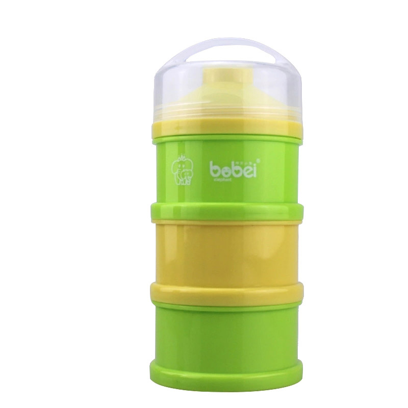 3 Layers Portable Newborn Infant Milk Powder Container Baby Feeding Food Bottle Dry Fruits Snacks Candy Storage Box M09