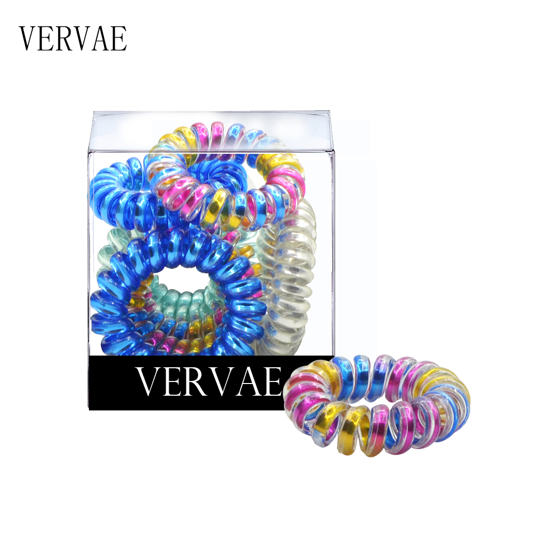 10Pcs/set Elastic Hair Bands for Women Hair Accessories Coil Spiral Hair Ties Girl Ponytail Holder Fashion   Headwear   2019 VERVAE