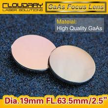 Высокое Качество GaAs Фокус Объектива Лазера СО2 Гравировки Резак DIa. 19 мм Фокусное 63.5 мм 2.5 «Бесплатная Доставка
