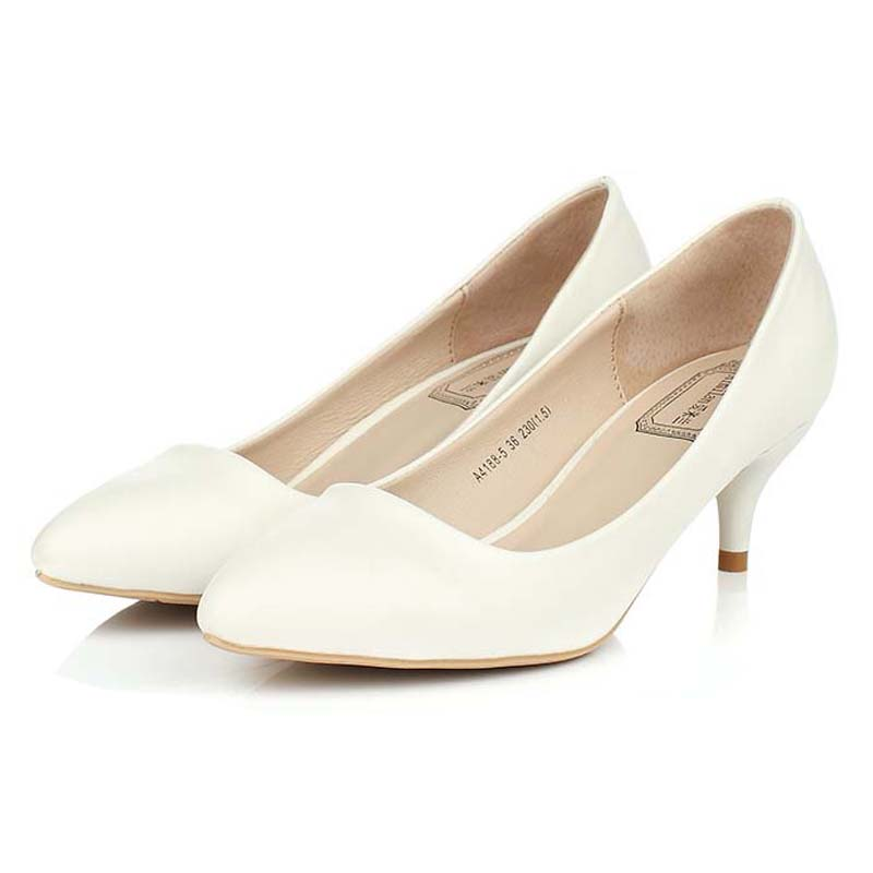 Online Buy Wholesale white low heels from China white low heels ...