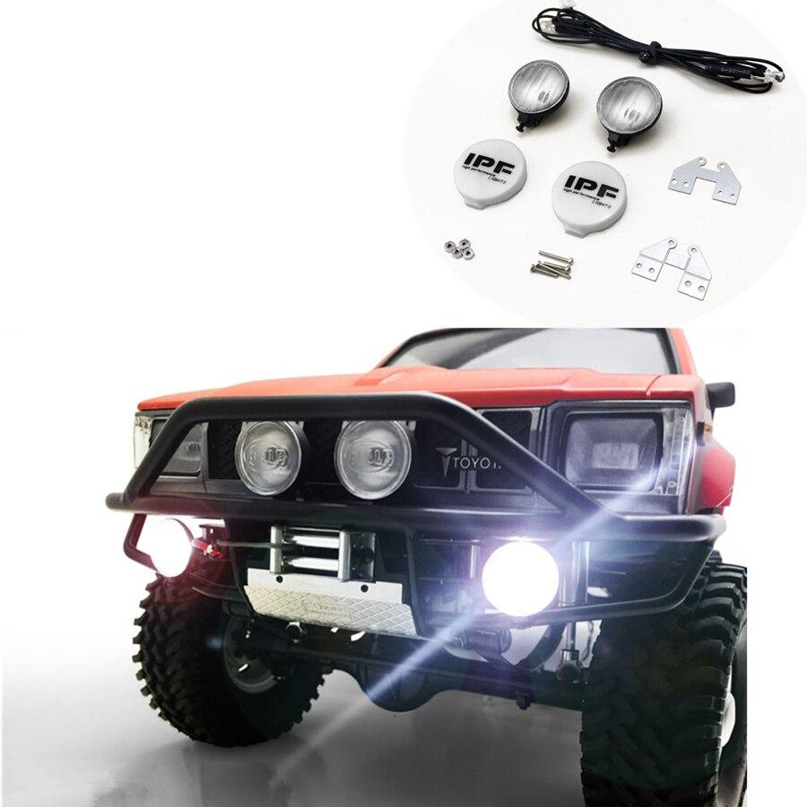 1/10 RC voiture mise à niveau accessoires IPF haute performance LED lumières Kits adaptés pour 1:10 échelle télécommande jouets camion