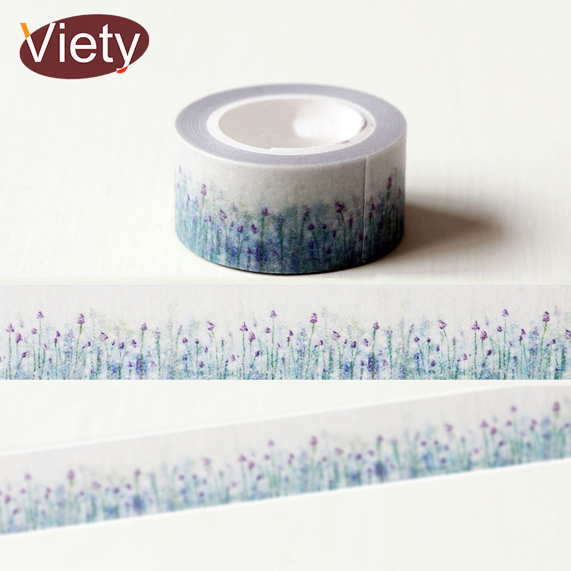 1 x 2cm*10m  Beautiful Lavender washi tape DIY decorative scrapbook planner masking tape adhesive tape stationery 3cm 7m raining butterfly washi tape diy decorative scrapbook planner masking tape office adhesive tape stationery
