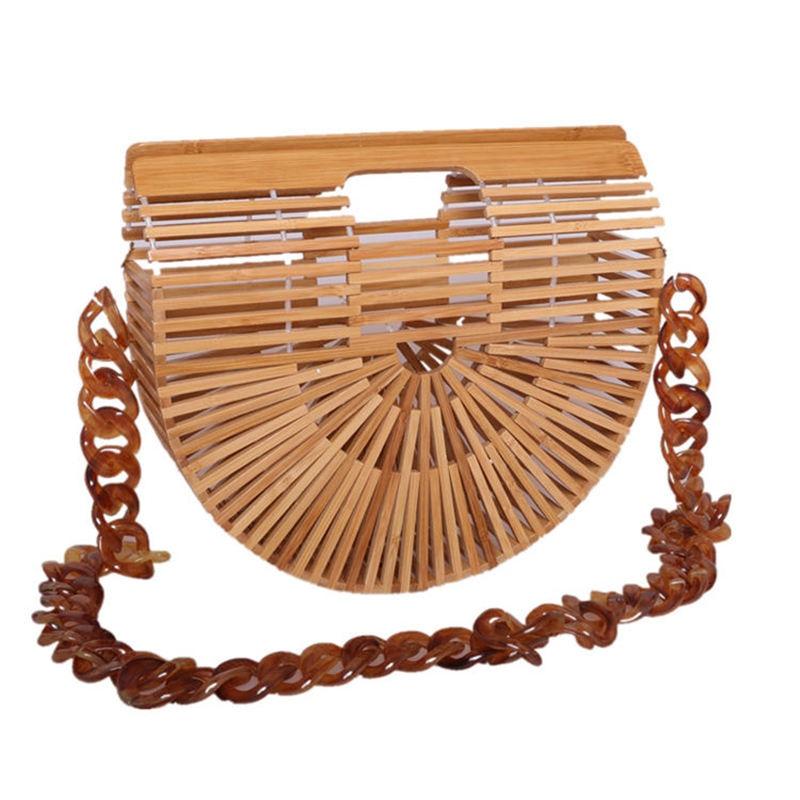 Women Bamboo Shoulder bag Clutch Handmade Bamboo Beach Bag Environmental Circular Basket Bamboo Clutch Free Shipping environmental bamboo made square small benches portable