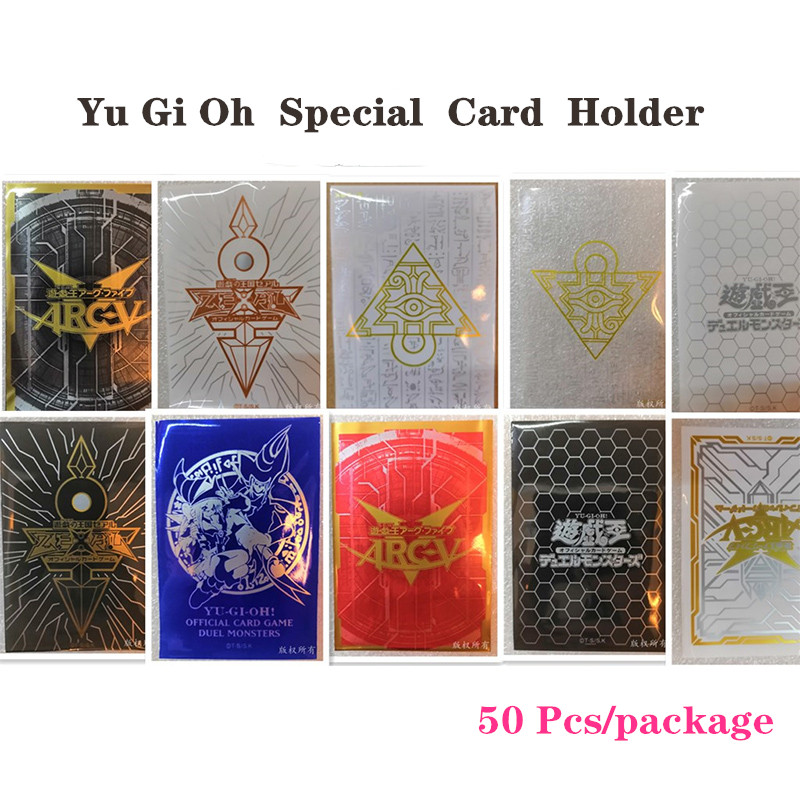 50pcs/package Board Game Yu Gi Oh Card Professional Plastic Jacket Card Holder Variety Of Colors Card Protector