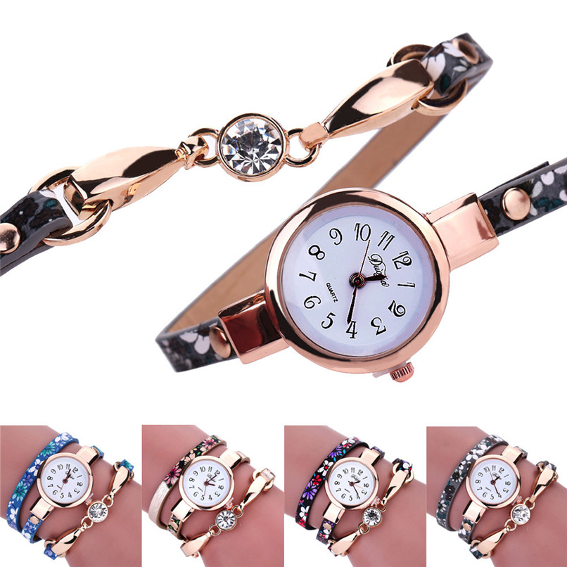 CLAUDIA Ladies Fashion Hot Sale Bracelet Watch Women Diamond Wrap Around Leatheroid Quartz Wrist Watch 2017 Relogio Feminino чаша для мультиварки redmond rb a600 6л тефлон