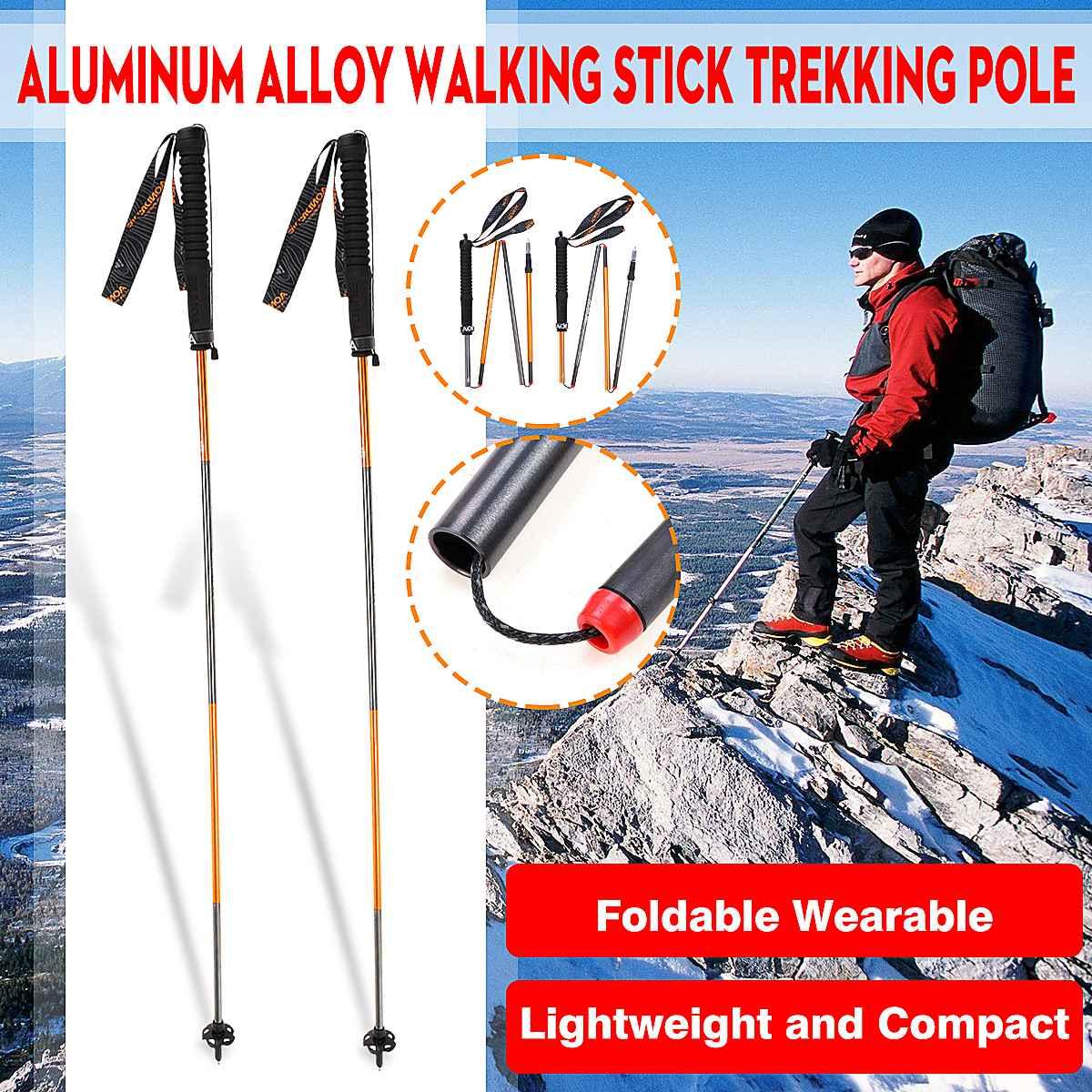 Bâtons de randonnée en Fiber de carbone bâtons de marche nordique télescopiques bâtons de randonnée réglables cannes de marche accessoires de randonnée avec pointe