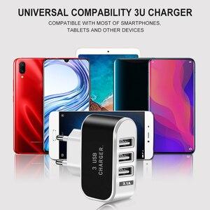 Image 5 - Acgicea 3 יציאות USB מטען 5V 2A USB קיר כוח מתאם האיחוד האירופי מטען טעינה עבור iPhone XS X Xiaomi סמסונג Huawei טלפון מטען