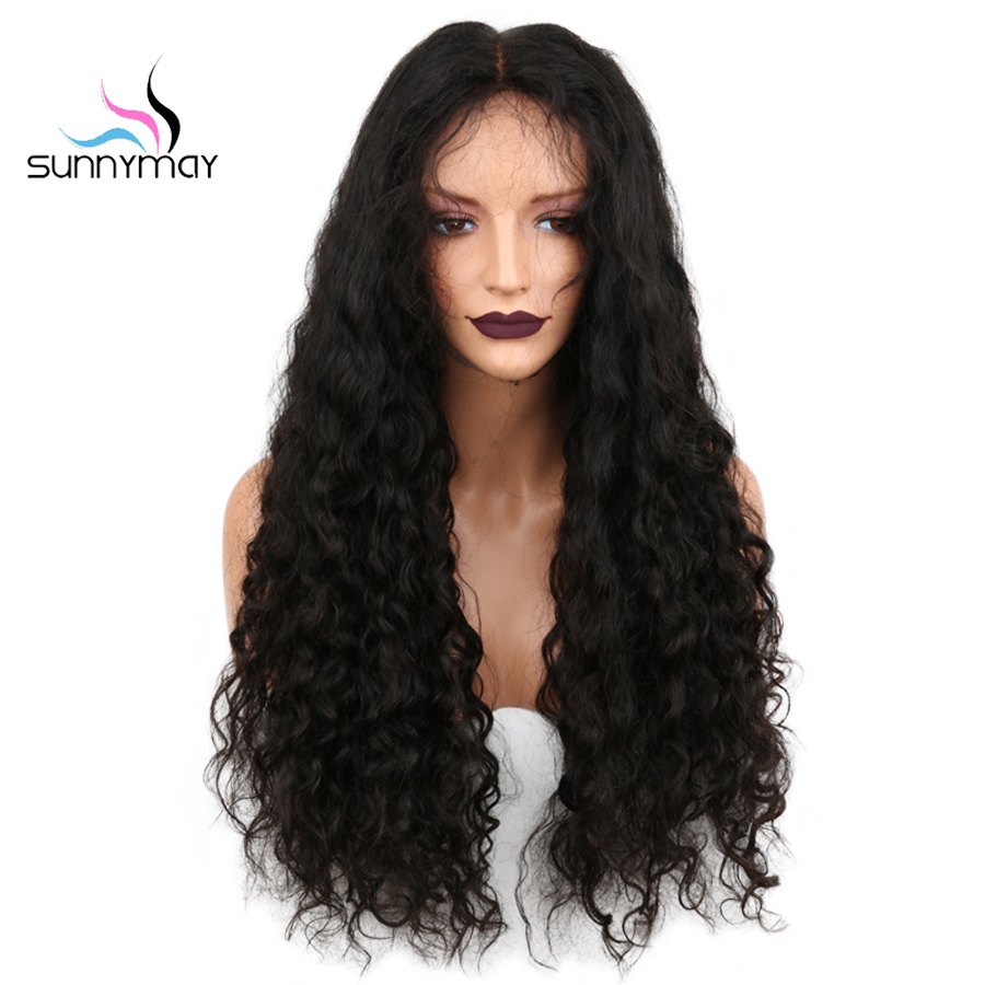 Sunnymay 13x4 csipke elülső emberi haj paróka 130% előfőzött göndör csipke első paróka bébi haj brazil remy haj paróka nők számára