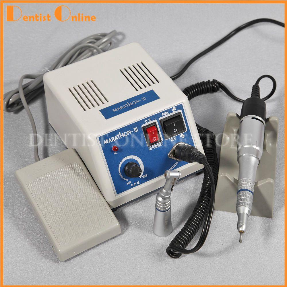 Dental Lab MARATHON Micromoteur Polissage + 35 K RPM Nez Droit Contra Angle