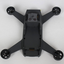 Sans moteur Drone cadre passe temps logement pièces de rechange Refit coque moyenne en métal corps couverture réparation facile installer pour DJI Spark