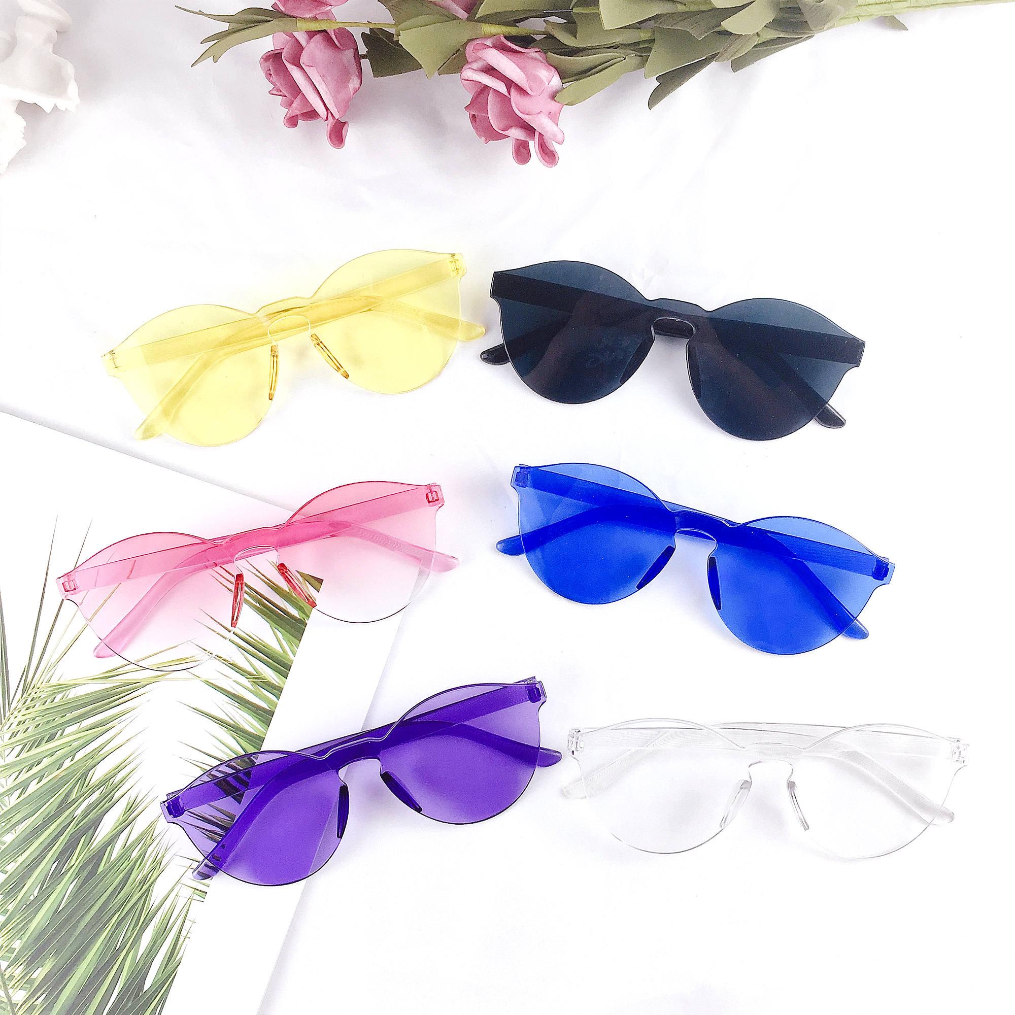 ﹗ 2019 новые сиамские солнцезащитные очки женщины прозрачные пластиковые очки дизайнер солнцезащитные