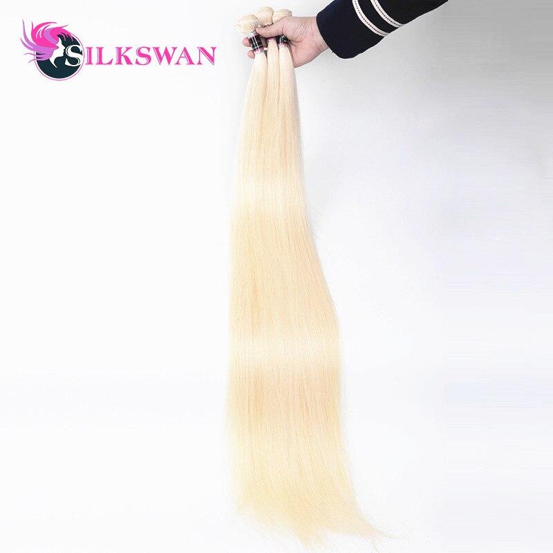 Silkswan 613 Gerade Menschenhaar Extensions 100% Remy Haar 10 30 Zoll 32 34 36 38 40 48 50 28 zoll Brasilianische Haar Bundles-in Haarverlängerungen aus Haarverlängerung und Perücken bei AliExpress - 11.11_Doppel-11Tag der Singles 1