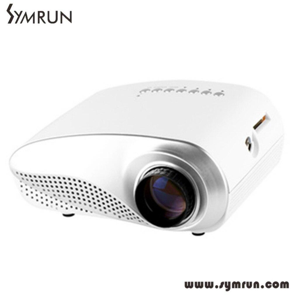 Portable RD 802 Mini LED projector Home Multimedia Cinema LED 1080P Projector HDMI/AV/VGA/SD/USB/TV proyector LED White rd 802 24w led hd home mini projector w hdmi vga usb remote control blue us plug