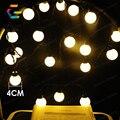 Jardim ao ar livre À Prova D' Água 5 m 20 Festival LED 4 cm Bola Luz Cordas Luzes de Natal Xmas da Festa de Casamento Em Casa decoração