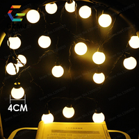 Outdoor Waterproof Garden 5m 20 LED Festival 4cm Ball String Light Fairy Lights Christmas Xmas Party