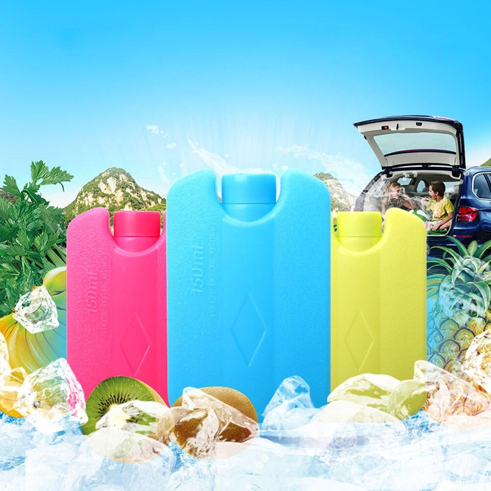 1 pcs Mini Ice Brick Freezer Tool Outdoor Travel Lunch Bag Box Cooler Cool Pack FG