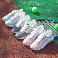 Air Shoes Woman Female Students All Match Comfortable Breathable Thick Soled Running Shoes Lace Harajuku Tide Sneaker Women Shoe