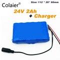Аккумулятор Colaier 6S1P  24В  2ач  6S1P  25 2 в  18650  2000 мАч  аккумуляторная батарея для GPS навигатора  автомобиля для гольфа  электрического велосипеда