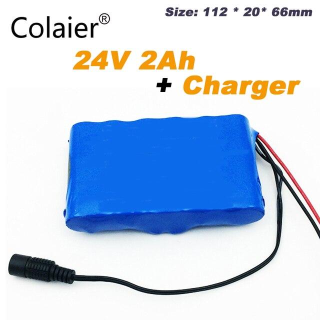 Colaier 24V 2Ah 6S1P Battery Pack 25.2V 18650 Batteria 2000mAh Batteria Ricaricabile Per Il GPS Navigator/Golf auto/Bici Elettrica