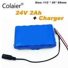 Colaier 24V 2Ah 6S1P Pack de Bateria 25.2V 18650 Bateria 2000mAh Da Bateria Recarregável Para GPS Navigator/Golf carro/Bicicleta Elétrica