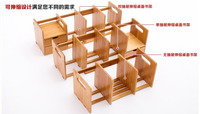 Eco friendly bamboo Bookcases Desk bookrack commodity shelf storage rack