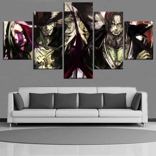 5 PIECES ONE PIECE WALL POSTER