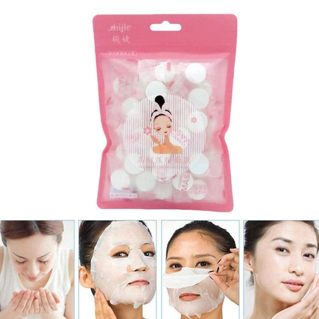 50pc/box Disposable Facial Masks Papers Compressed Face Mask Paper Natural Skin Care Wrapped Masks DIY Women Makeup Beauty Tool 5