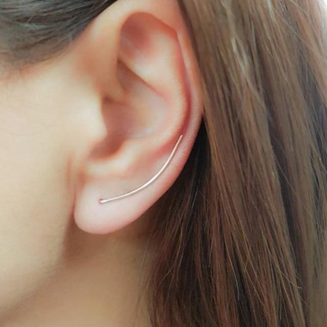 QIAMNI Trendy Copper Line Bar Ear Climber Earring Women Punk Ear Crawler Wrap Earring Party Gift.jpg 640x640 - QIAMNI Trendy Copper Line Bar Ear Climber Earring Women Punk Ear Crawler Wrap Earring Party Gift Fantaisie Brincos Pendientes