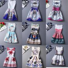RioRIva Girls Dress Size 6-19 Years Old Print Summer Dresses For Age 13 14 15 16 Floral Owl Sleeveless Pattern 2017 Hot Women