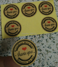 """Wholesale (500) round stickers Cafu, 'handmade love """"sticker, specially created for you sticker, free shipping."""