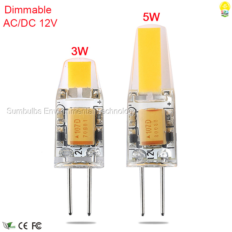 AC DC 12V 3W 6W G4 LED Lights Lamp Warm Cold White Dimmable G4 COB Mini LED Bulb Replace Halogen Lights