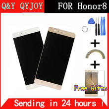 Q&Y QYJOY For Huawei Honor 8 LCD Display Screen Digitizer Touch Screen For honor8 Prime Glass Panel 5.2Inch FreeTools