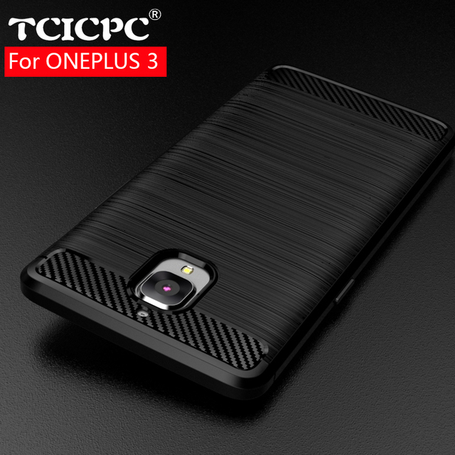huge selection of b6c2f 6978f US $4.99 |TCICPC Oneplus 3 3T Case For One plus 3 3T Case Full Protection  Carbon Fiber Brushed Soft Silicone TPU Back Cover For Oneplus 3T-in Fitted  ...