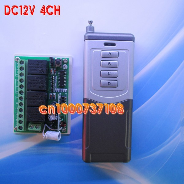 DC12V 10A 4 ch light switch wireless 433,93mhz switches for window door lock/garage door jumper adjust working way free shipping for kia sportage door window switch with side mirror switch window lifter switch