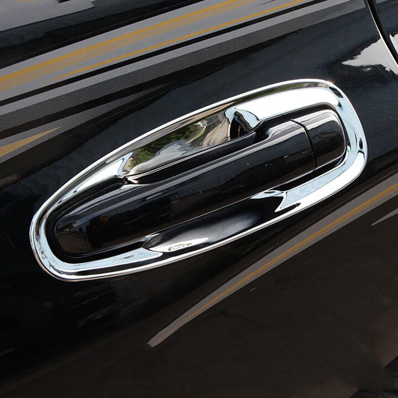 ABS Chrome For <font><b>Prado</b></font> FJ150 2010-2018 For <font><b>Toyota</b></font> Land cruiser <font><b>Prado</b></font> 150 2015-2017 door handle insert Car <font><b>Accessories</b></font> 8pcs image