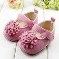 Lo nuevo 2015 Festival de la flor 0-1 yearsly nacido bebé girls primeros caminante zapatos niño sapato jane