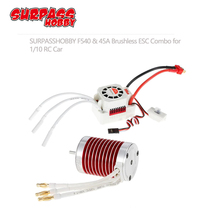 SURPASSHOBBY Platinum Waterproof Series F540 4370KV 3930KV 3300KV 3000KV бесщеточный мотор с 45A ESC для Traxxas TRX 4 автомобиля 1/10