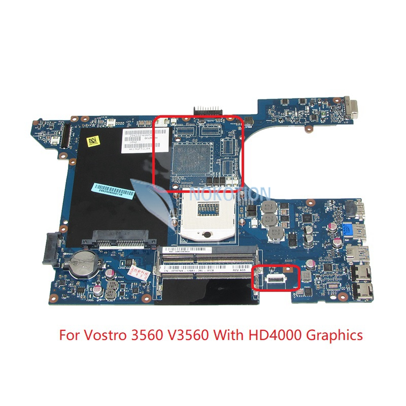 NOKOTION QCL00 LA-8241P CN-0PYFNX 0PYFNX PYFNX Laptop Motherboard For Dell Vostro 3560 V3560 PC Main Board HM77 DDR3 0mnynp mnynp main board fit for dell vostro 3350 notebook pc motherboard hm67 ddr3 gma hd 3000