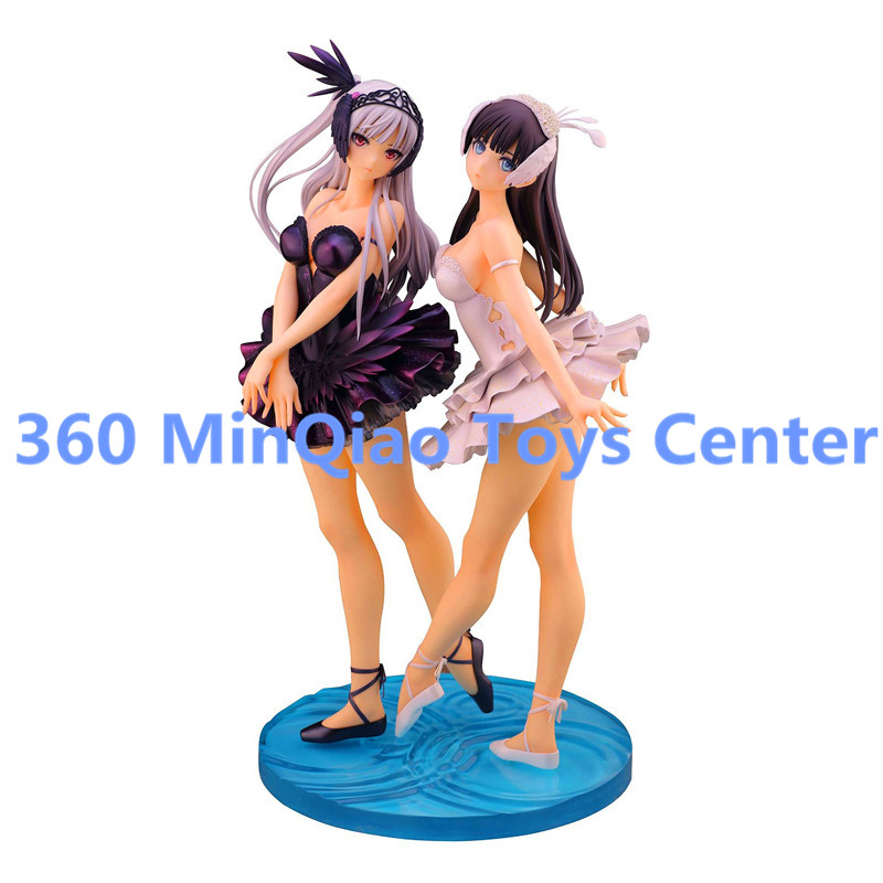 SkyTube T2 Art Girls Black Odile / White Odette 1/6 Scale Printed PVC Anime Sexy Figures Collectible Model Toy Boxed WU1012(China (Mainland))