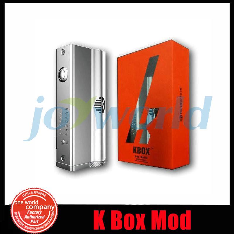 5 10pcslot Black Kanger Kbox Mod 40w Fit For Kanger Subtank Aspire Atlantis E Cig Variable Wattage Electronic Cigarette Kbox Mod