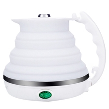 Foldable Electric Kettle Portable Silicone Collapsible Camping Kettle Boil Dry Protection Folding Electric Water Kettle Travel цена и фото