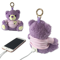 Portable External Charger Cute Bear 10000mAh Power Bank With Teddy Bear V8 Double Input Harger For