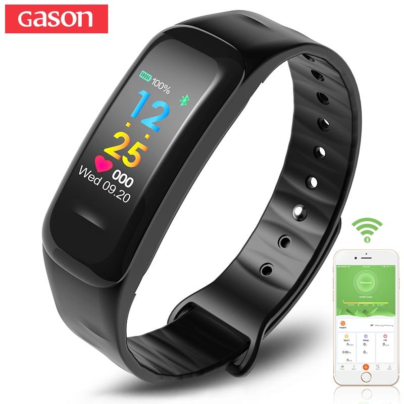 GASON fitness bracelet smart band wristband Heart rate activity tracker watch cicret smartband pulsometer sport waterproof gason черный