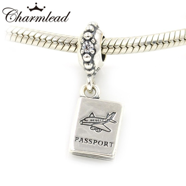 Fits Pandora Charms Bracelet Authentic 925 Sterling Silver Beads Travel Airplane Pport Charm Diy Bracelets Jewelry